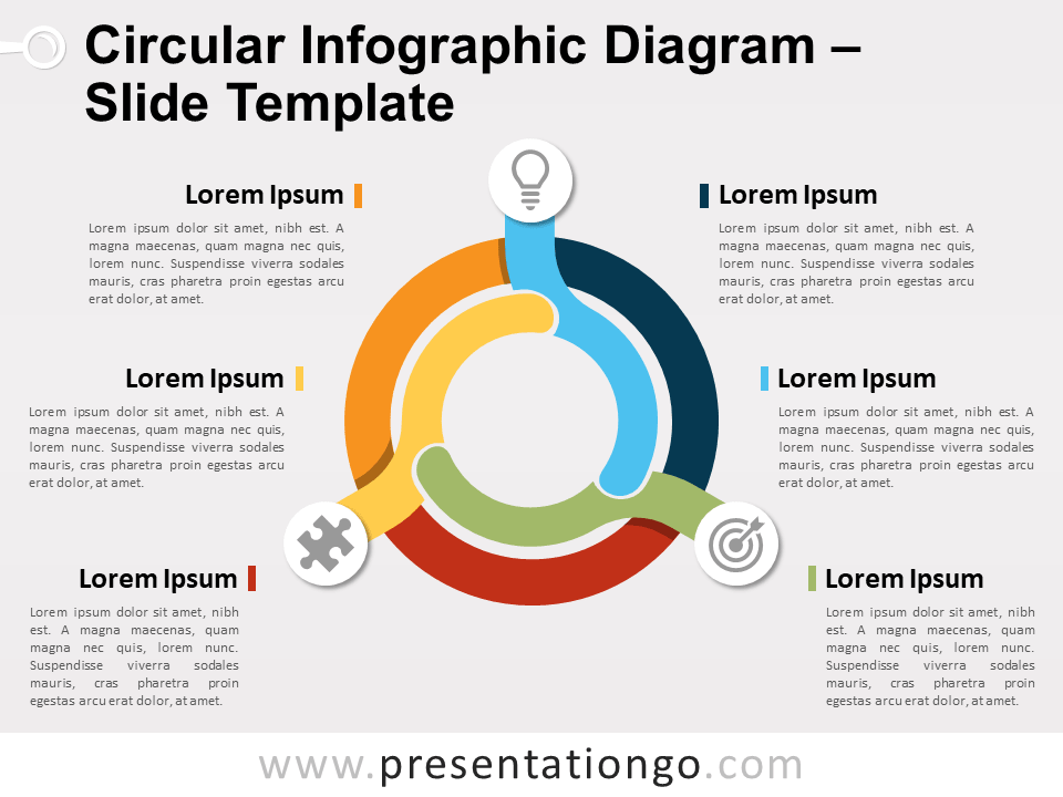 Free Circular Infographic Diagram PowerPoint Template