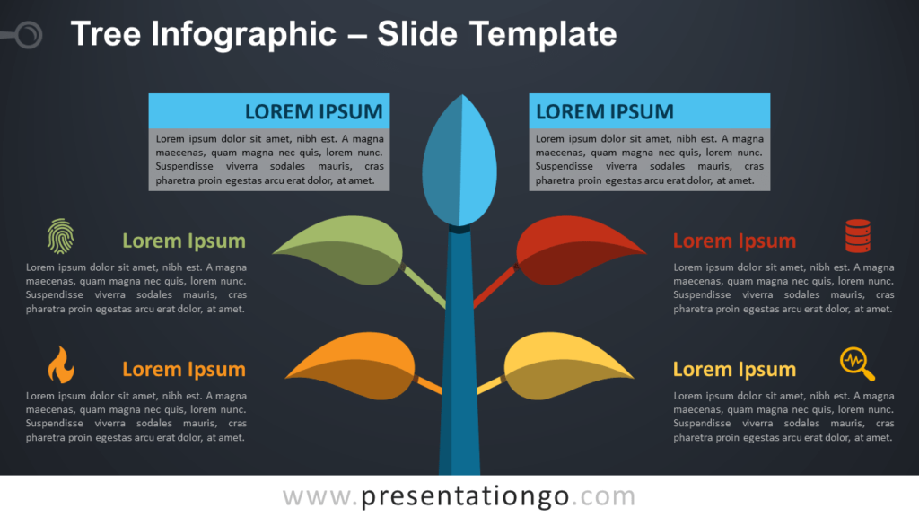 Free Colorful Tree Infographic for PowerPoint and Google Slides