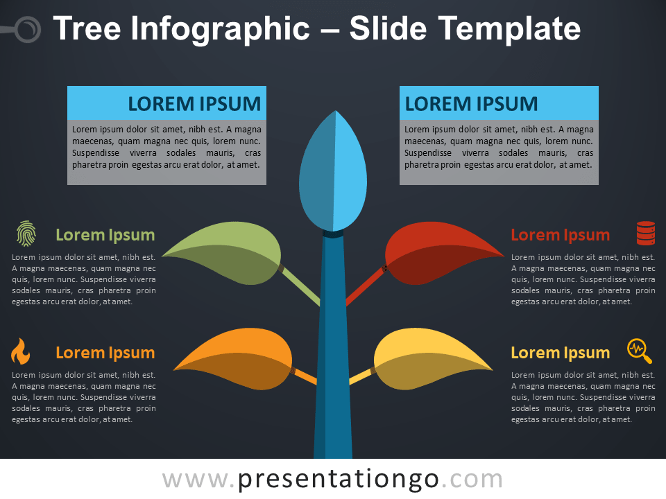 Free Colorful Tree Infographic for PowerPoint