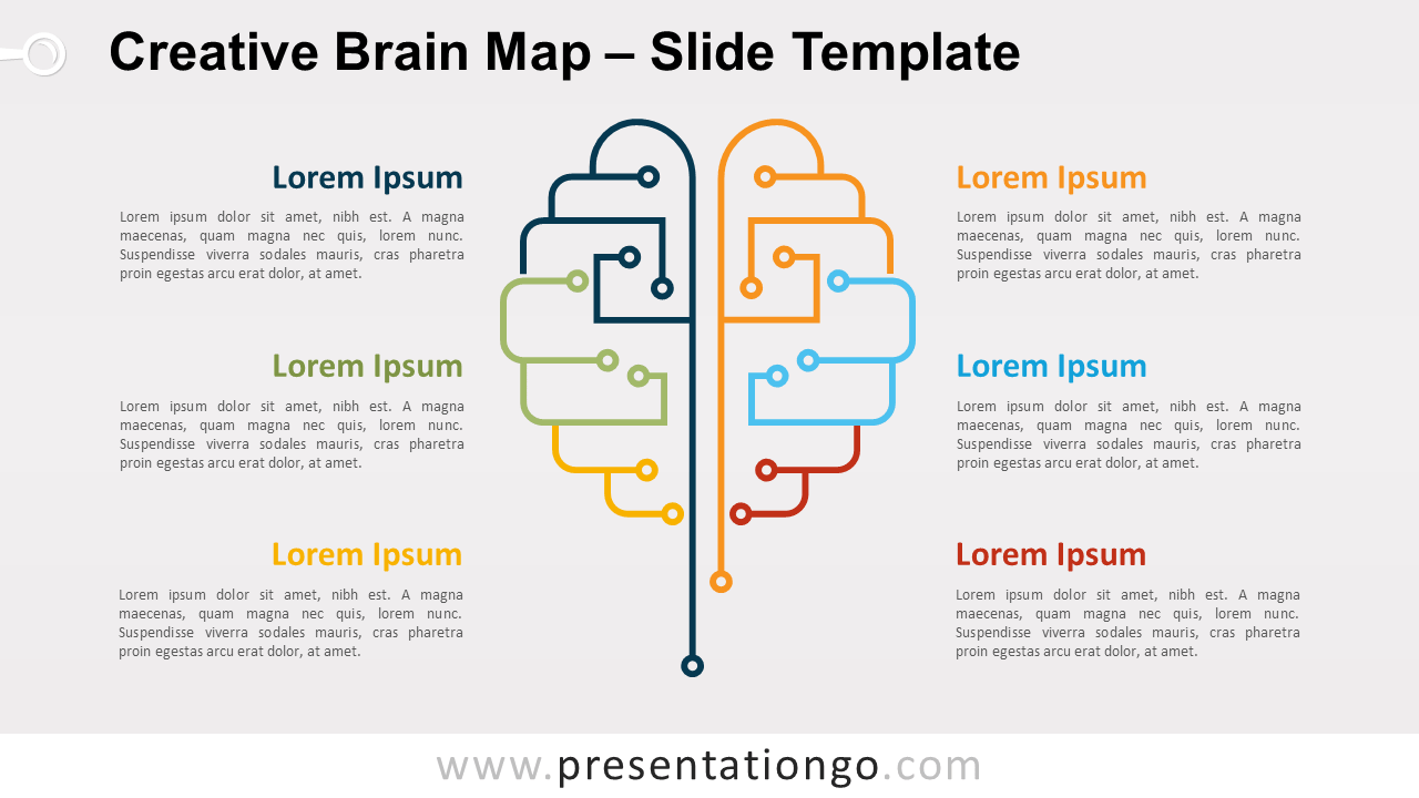 Free Creative Brain Map for PowerPoint and Google Slides