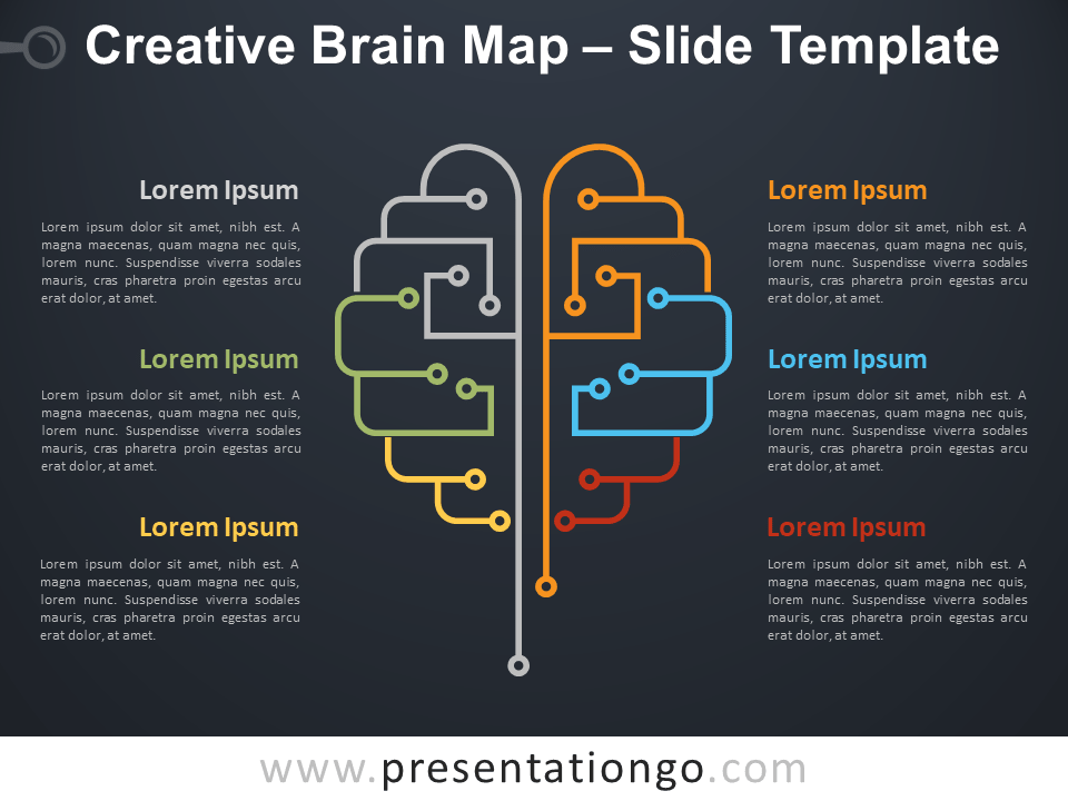 Free Creative Brain Map PowerPoint Template