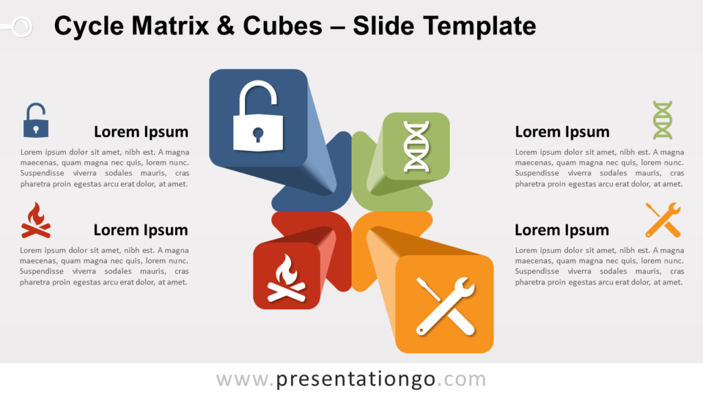 Free Cycle Matrix and Cubes for PowerPoint and Google Slides