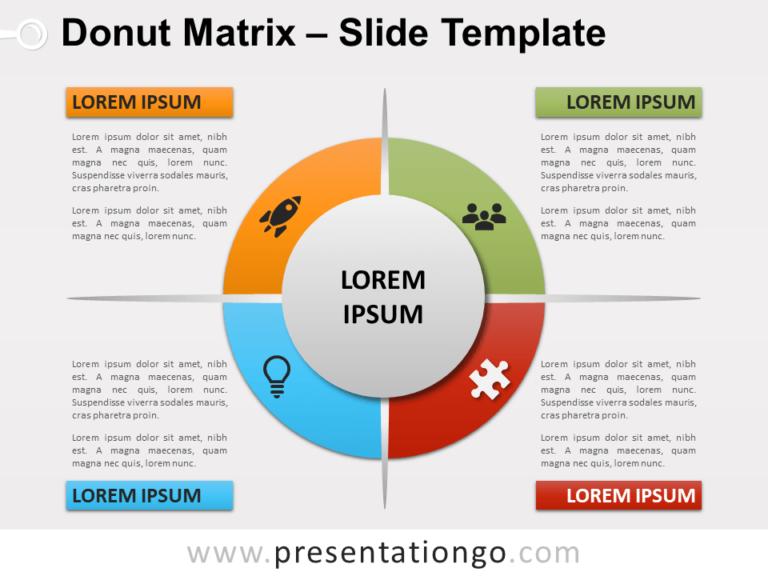 Free Donut Matrix PowerPoint Template