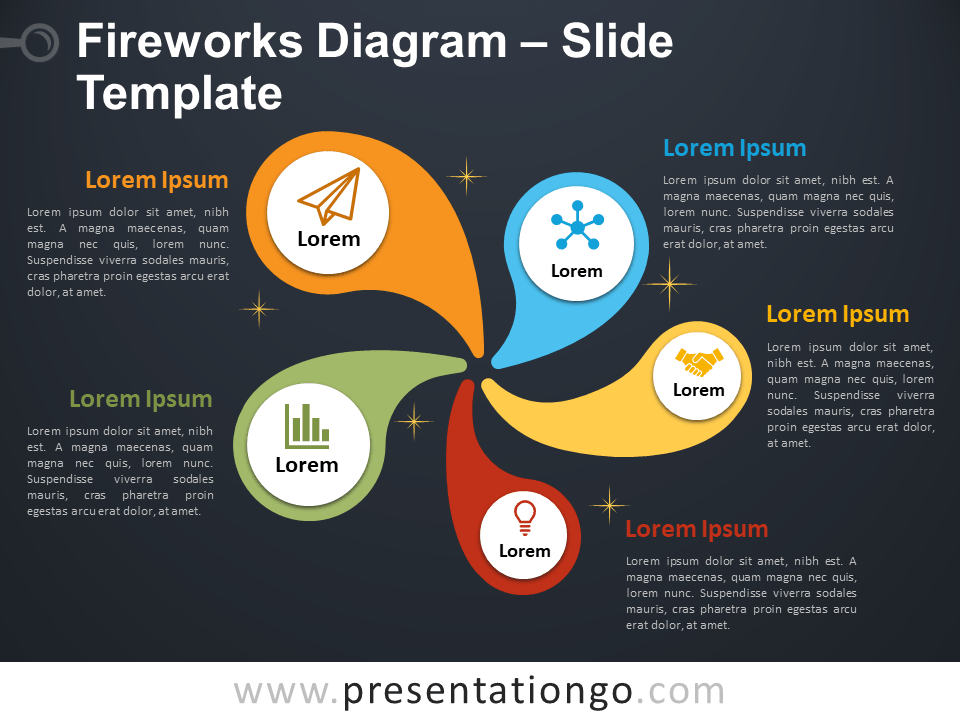 Free Fireworks Diagram PowerPoint Slide Template