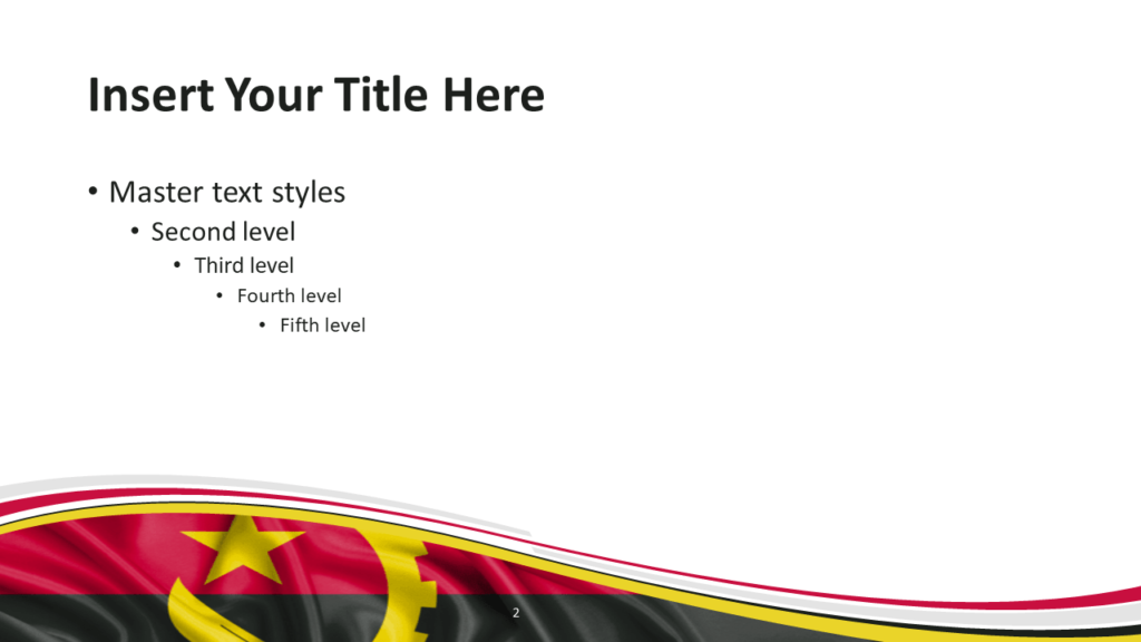 Angola Flag PowerPoint and Google Slides Template - Slide 2