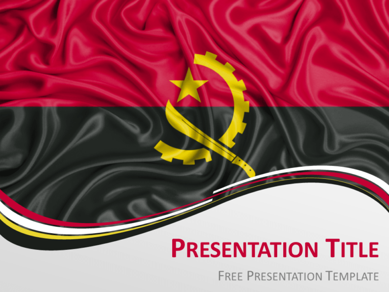 Free Angola Flag PowerPoint Template