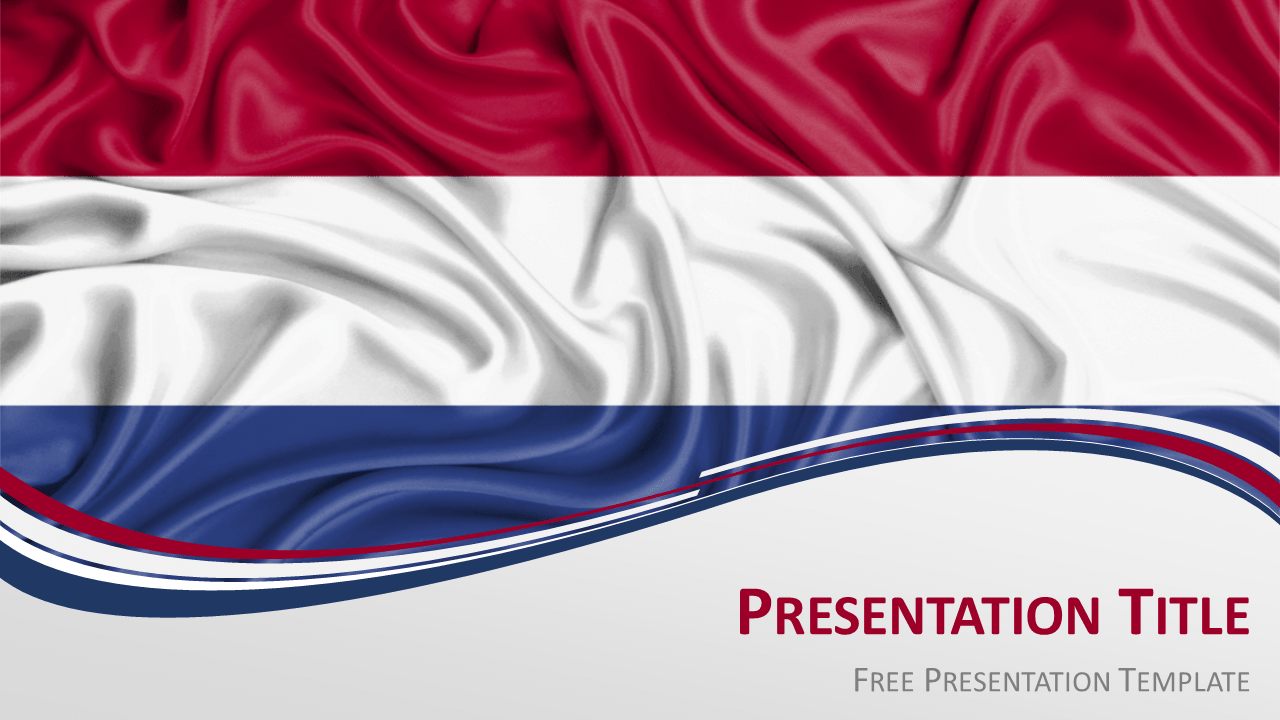 Free Netherlands Flag PowerPoint and Google Slides Template