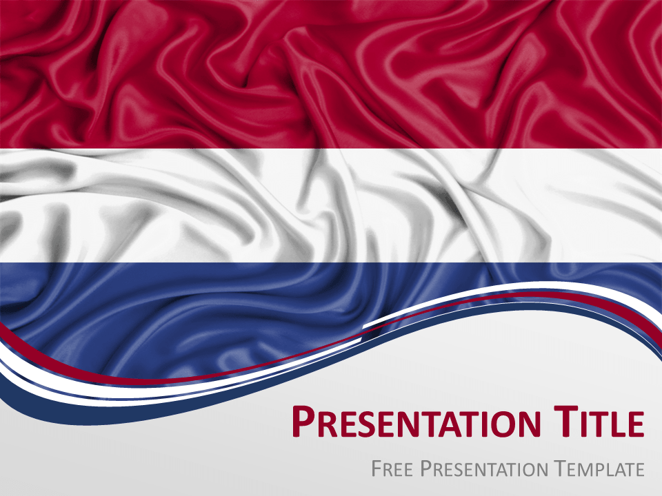 Free Netherlands Flag PowerPoint Template
