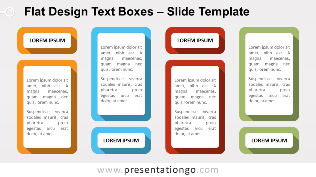 Free Flat Design Text Boxes for PowerPoint and Google Slides
