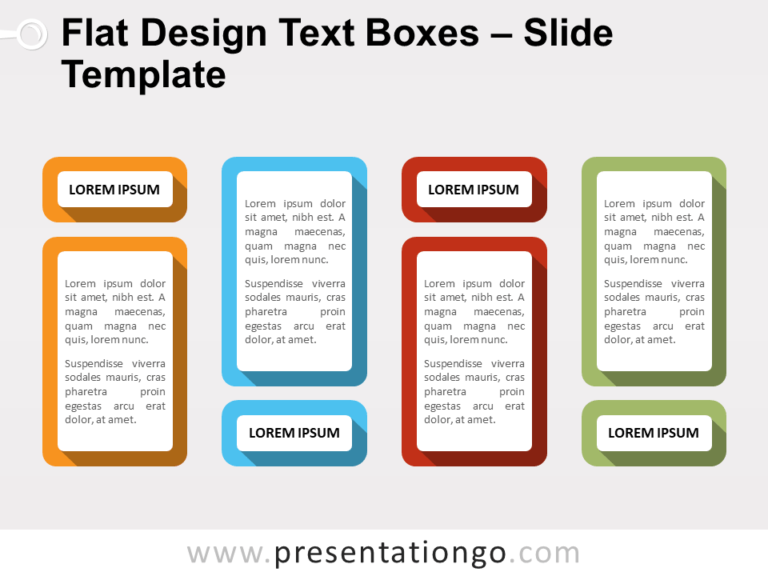 Free Flat Design Text Boxes Template