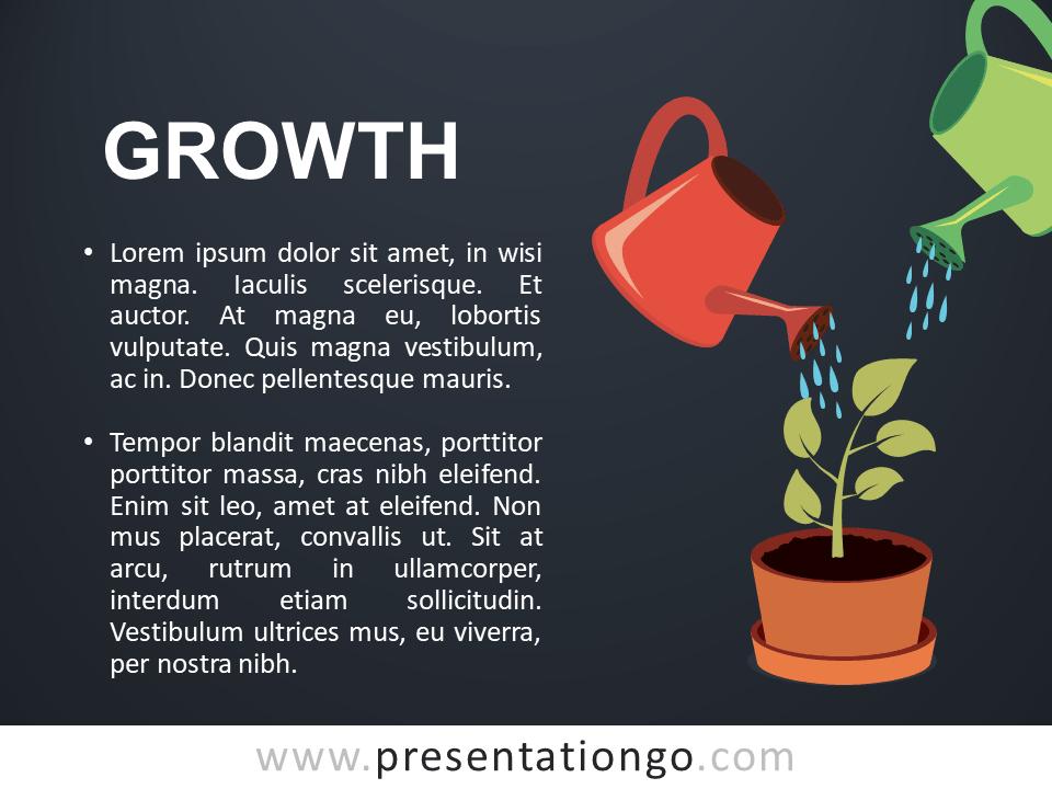 Growth - Metaphor Template Slide