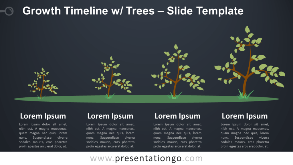 Free Growth Timeline with Trees for PowerPoint