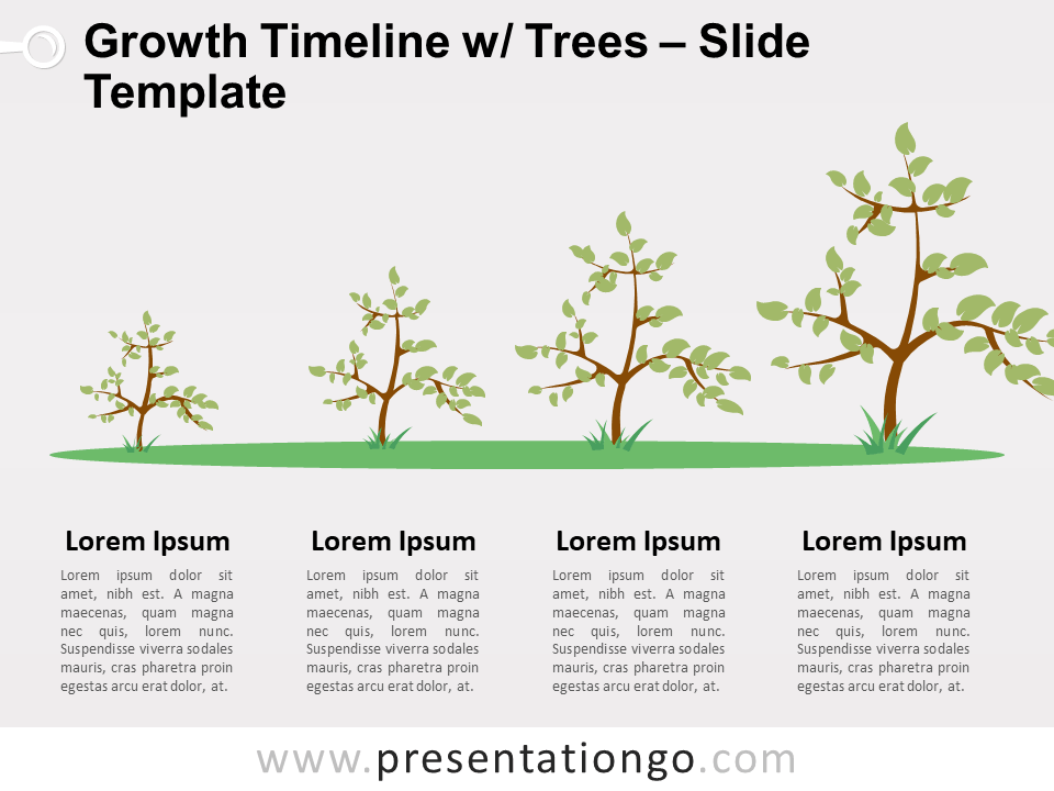Free Growth Timeline with Trees PowerPoint Template