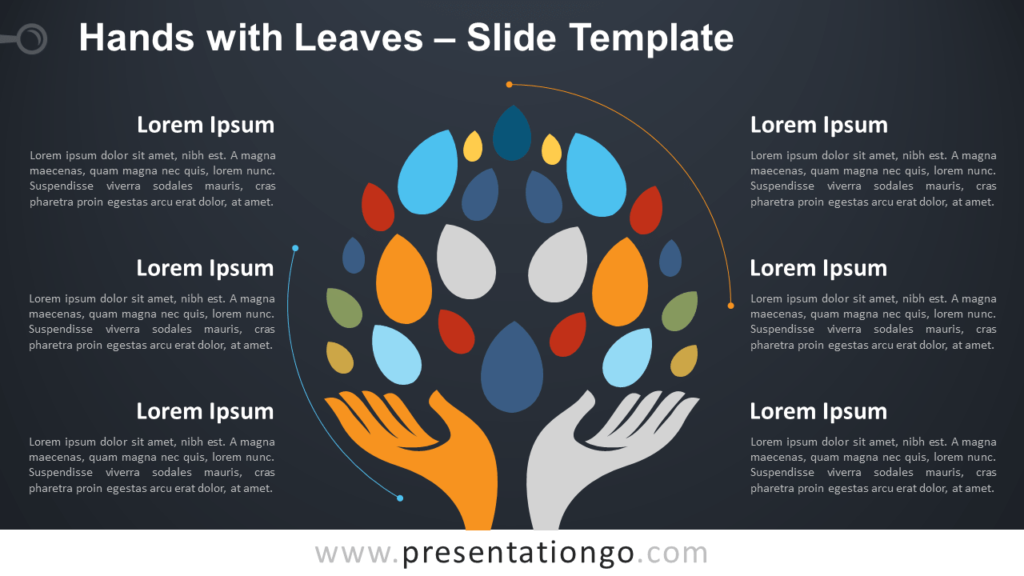 Free Hands and Leaves for PowerPoint