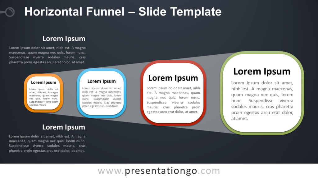 Free Horizontal Funnel for PowerPoint