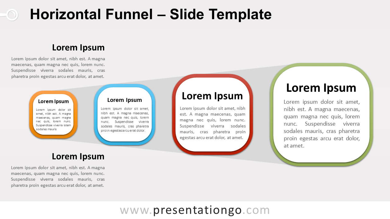Free Horizontal Funnel for PowerPoint and Google Slides