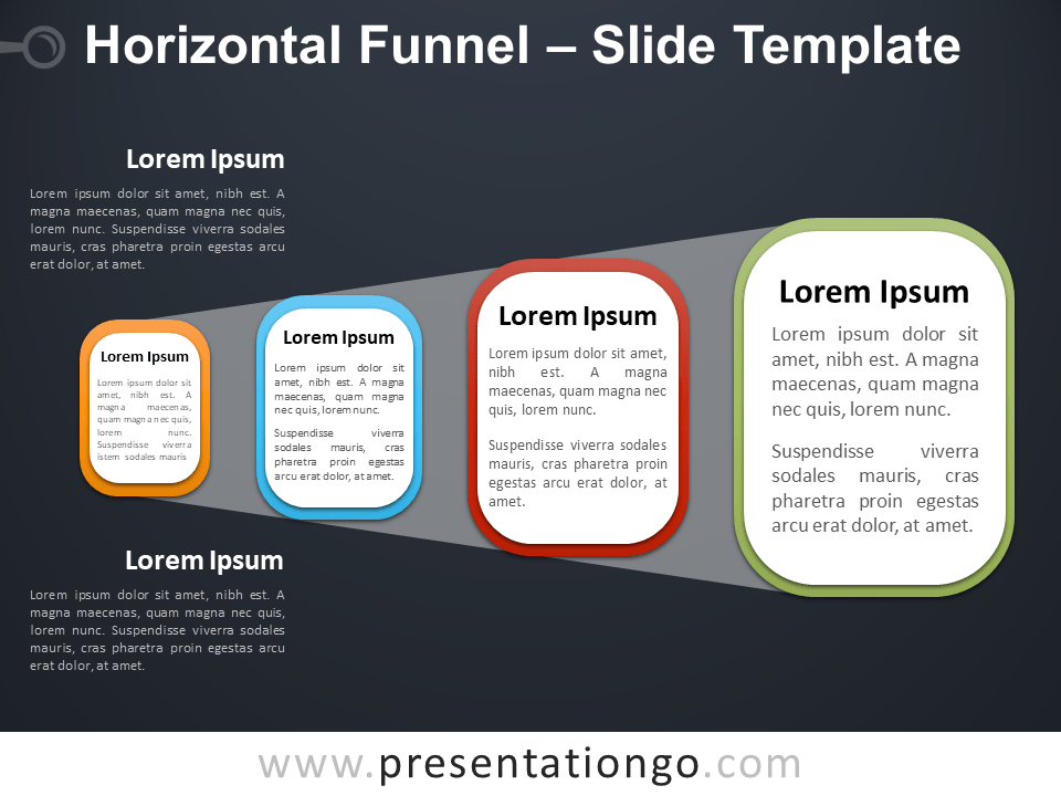 Free Horizontal Funnel PowerPoint Template Slide