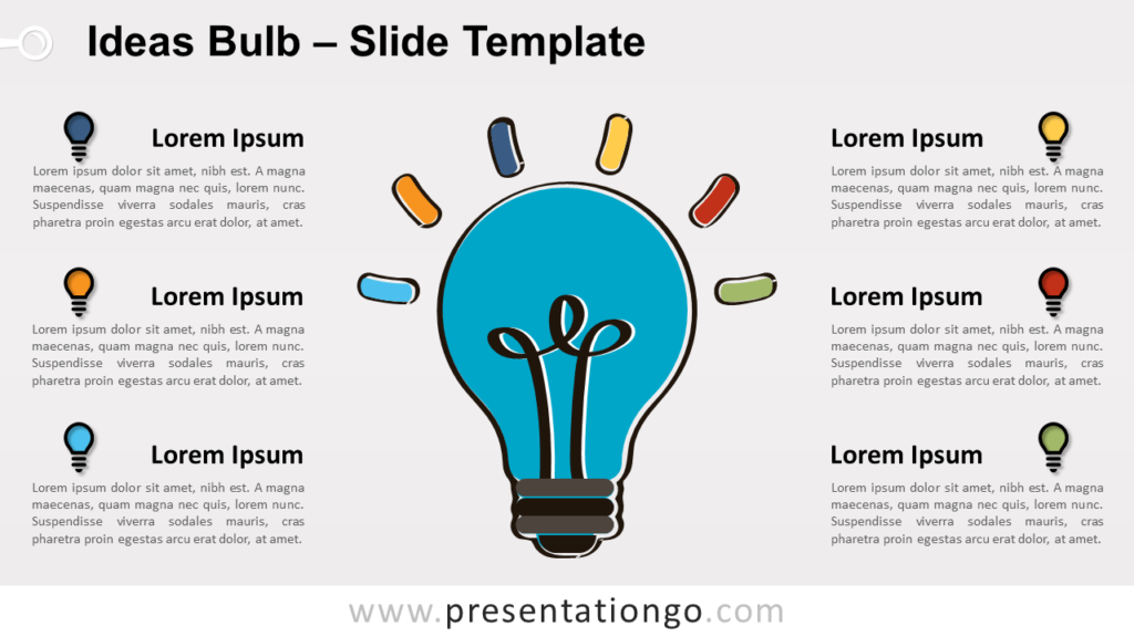 Free Ideas Bulb for PowerPoint and Google Slides