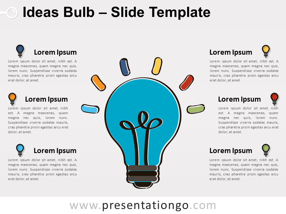 Free Ideas Bulb Slide Template
