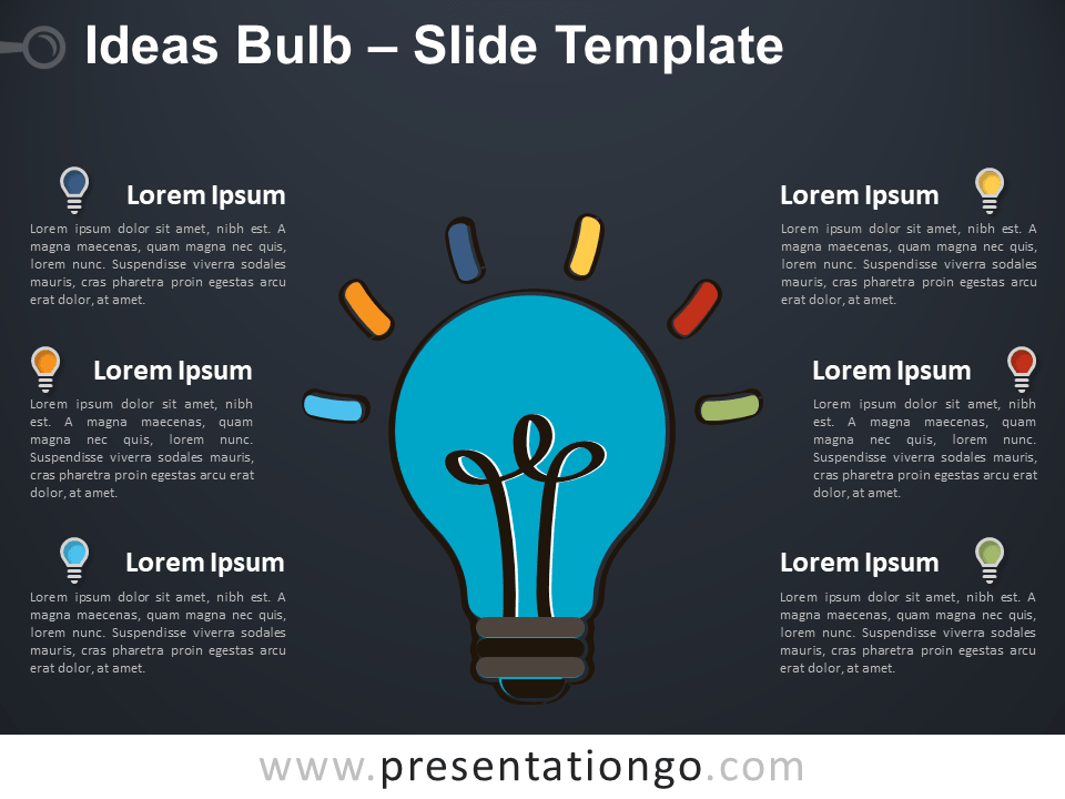 Free Ideas Bulb Template