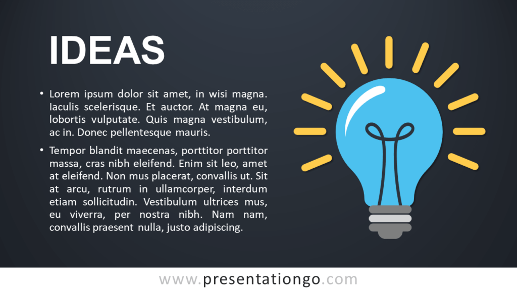 Ideas - Metaphor Template for PowerPoint