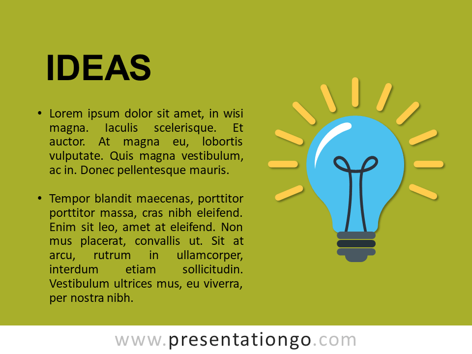 Ideas - Metaphor Template Slide