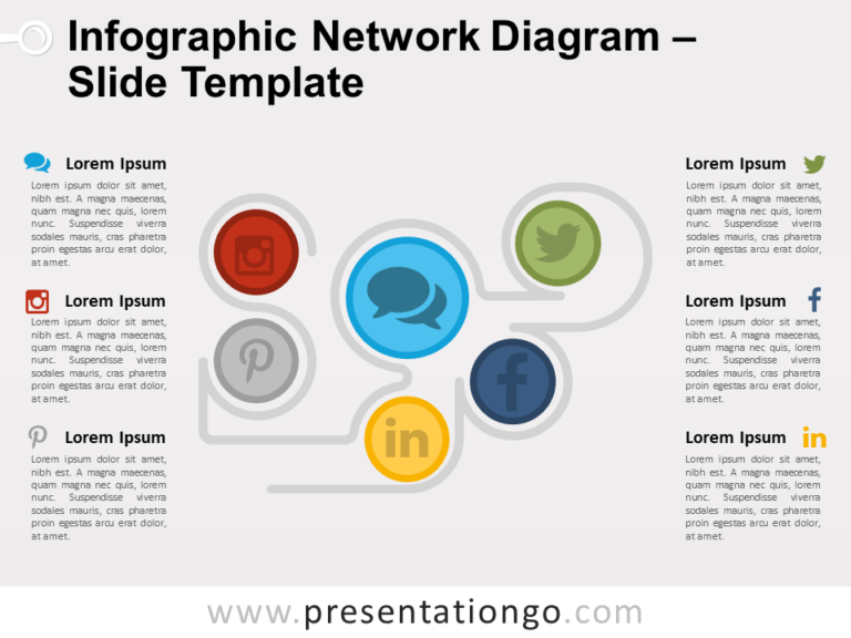 Free Infographic Network Diagram PowerPoint Template