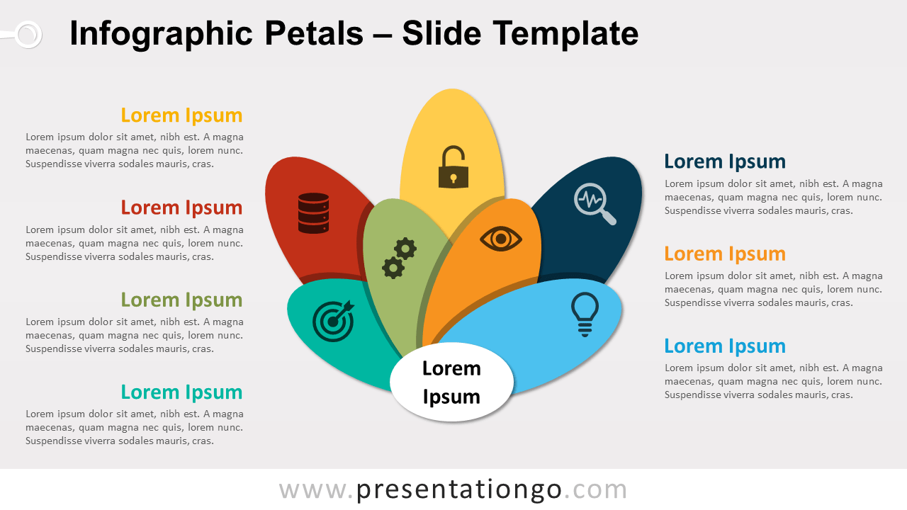 Free Infographic Petals for PowerPoint and Google Slides