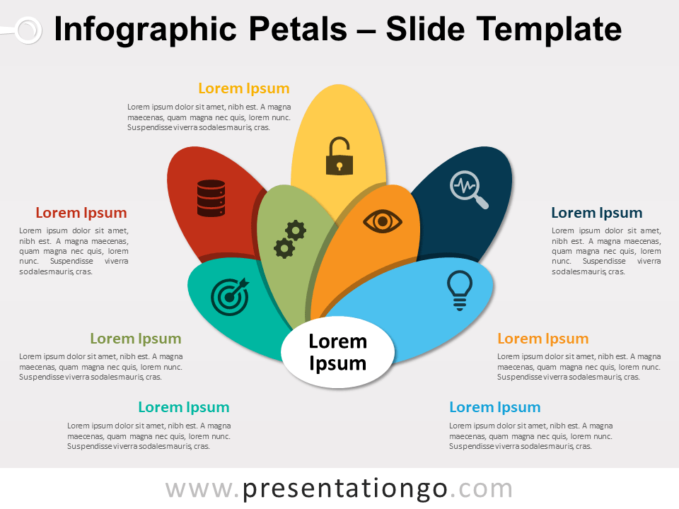 Free Infographic Petals PowerPoint Template