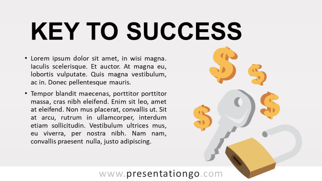 Key to Success - Metaphor Template for PowerPoint