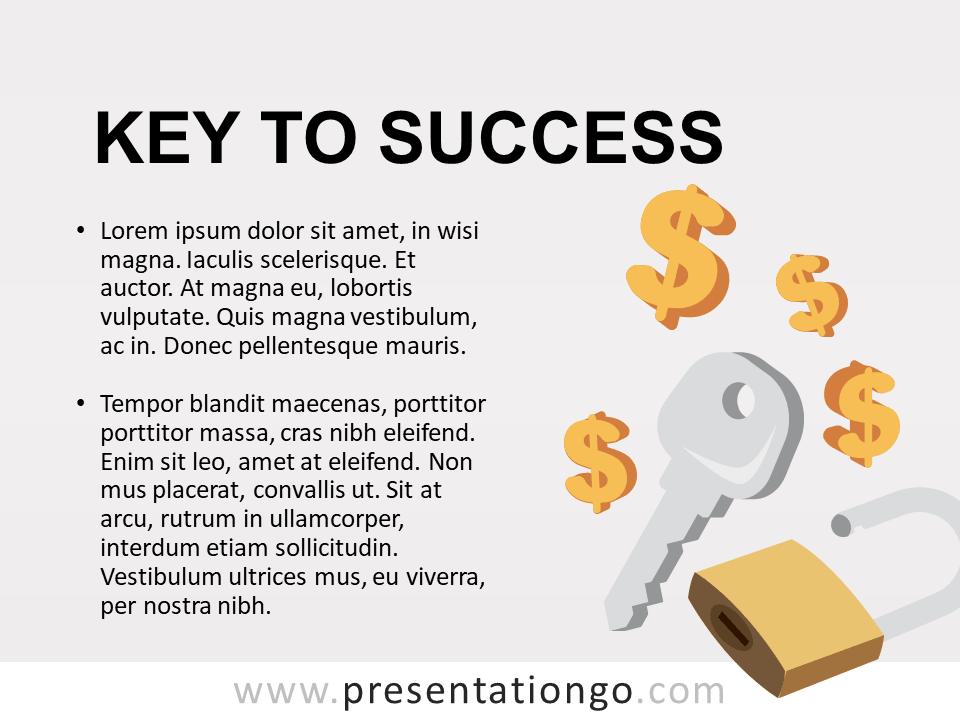 Key to Success - Template for PowerPoint
