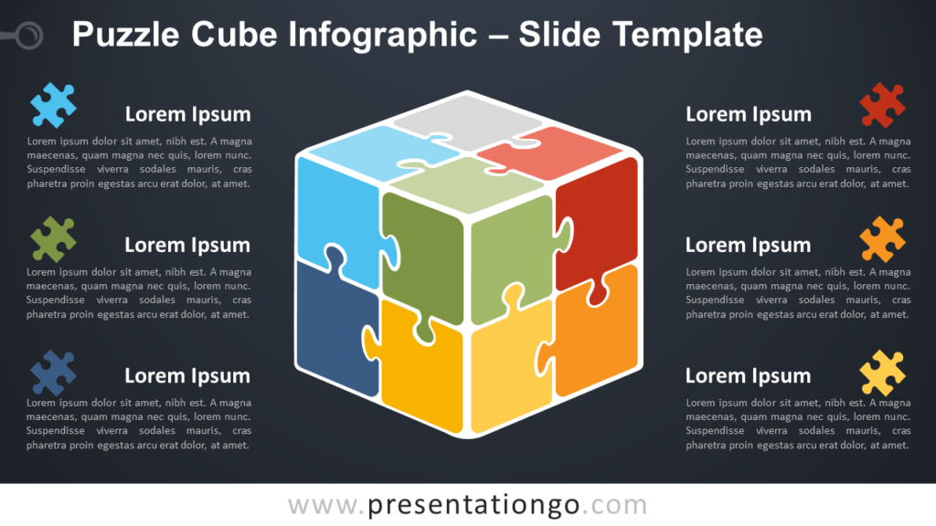 Free Puzzle Cube Infographic for PowerPoint