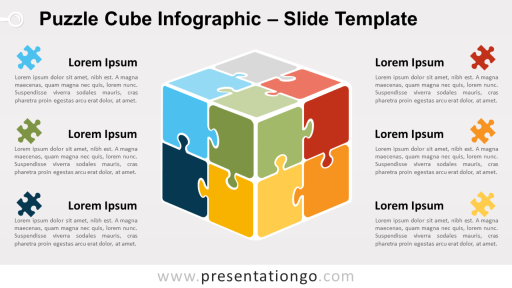 Free Puzzle Cube Infographic for PowerPoint and Google Slides