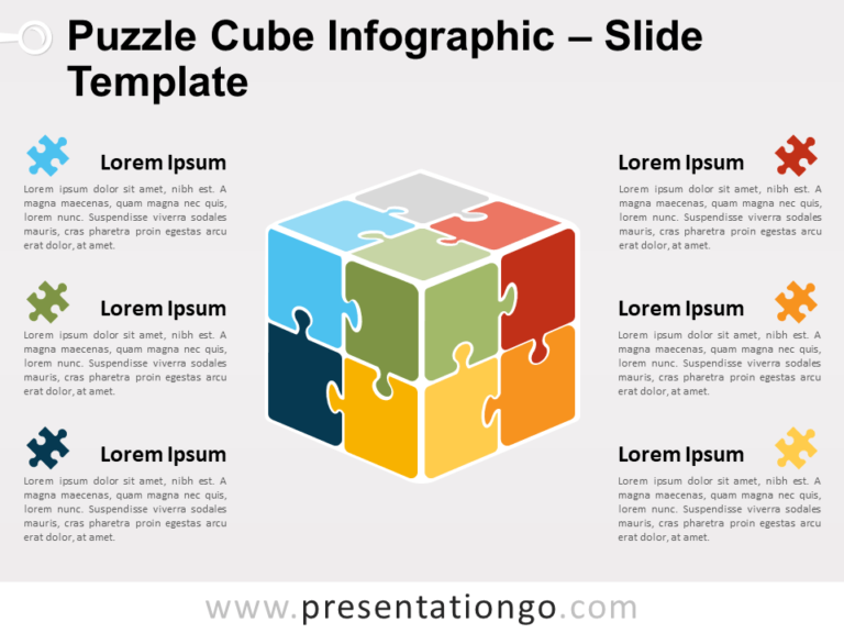 Free Puzzle Cube Infographic Slide Template