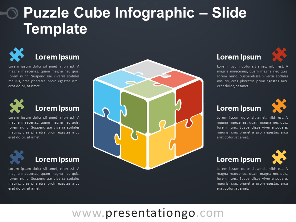 Puzzle Cube Infographic for PowerPoint and Google Slides