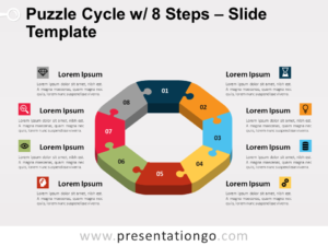 Free Puzzle Cycle with 8 Steps PowerPoint Template