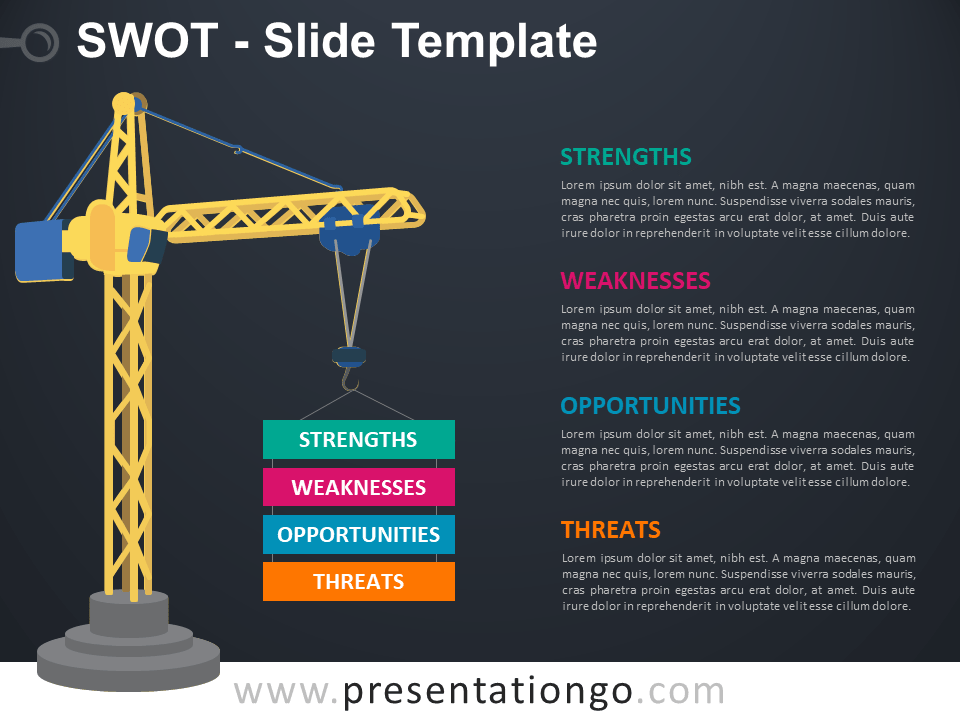 Free SWOT Slide Template with Crane