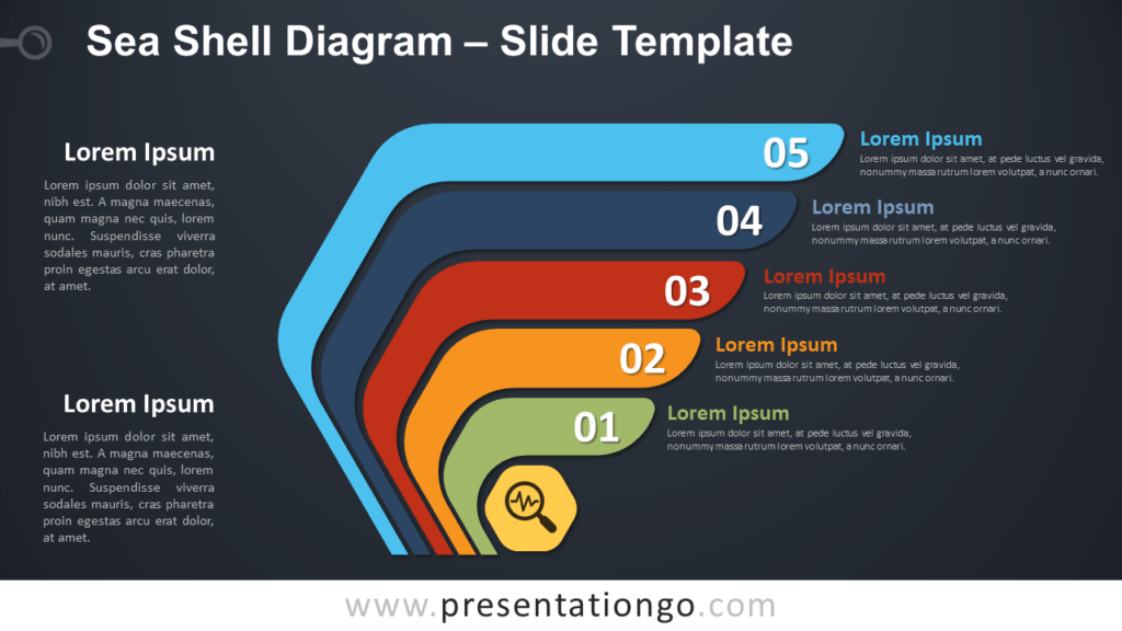 Free Sea Shell Diagram for PowerPoint