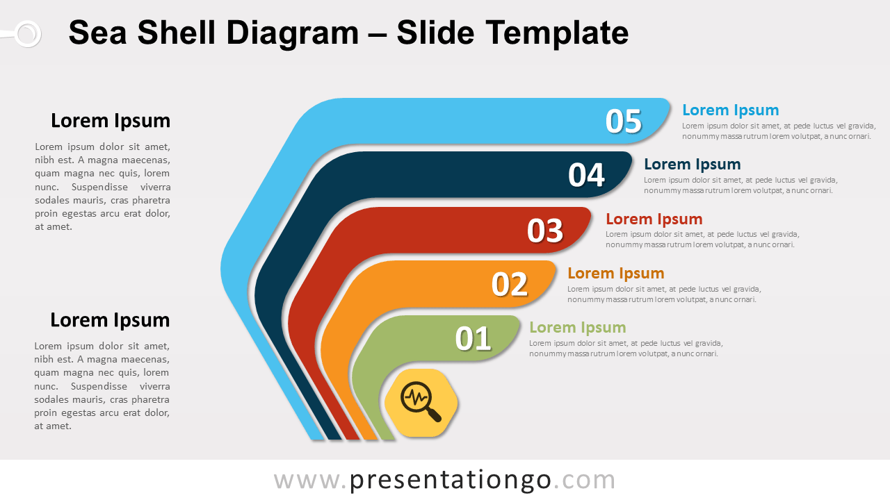 Free Sea Shell Diagram for PowerPoint and Google Slides