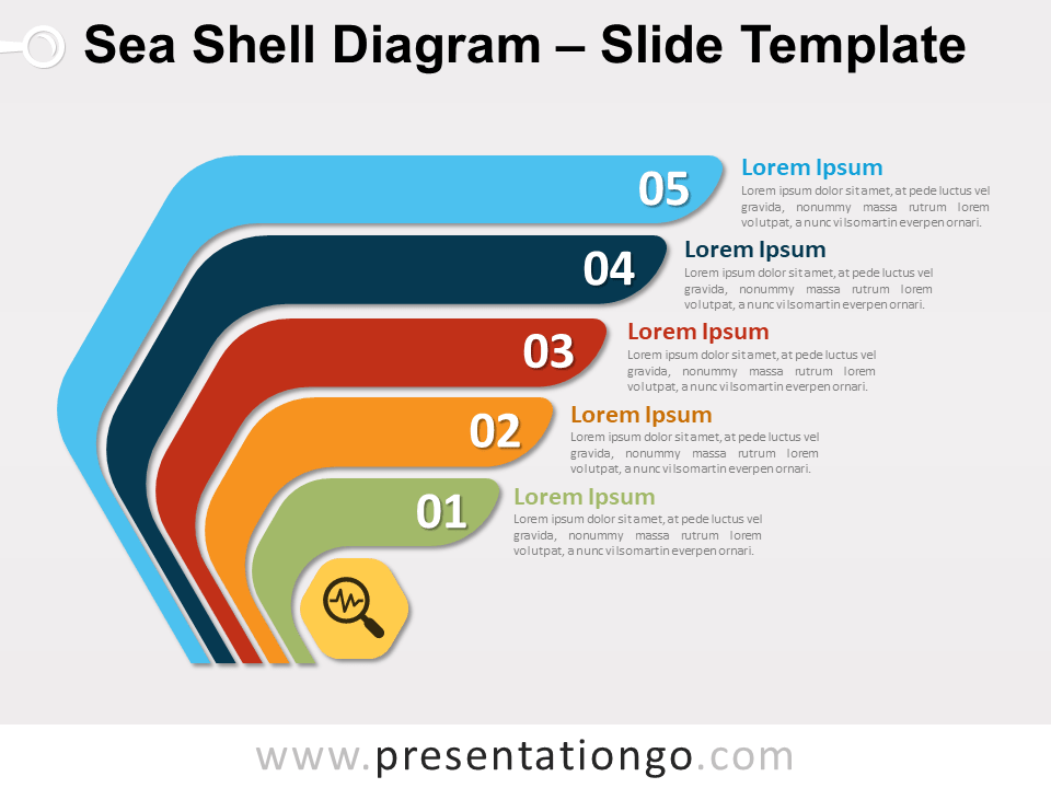 Free Sea Shell Diagram Slide Template