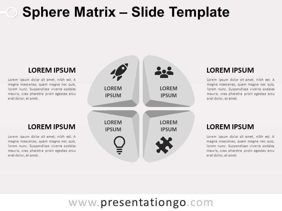 Free Sphere Matrix PowerPoint Diagram