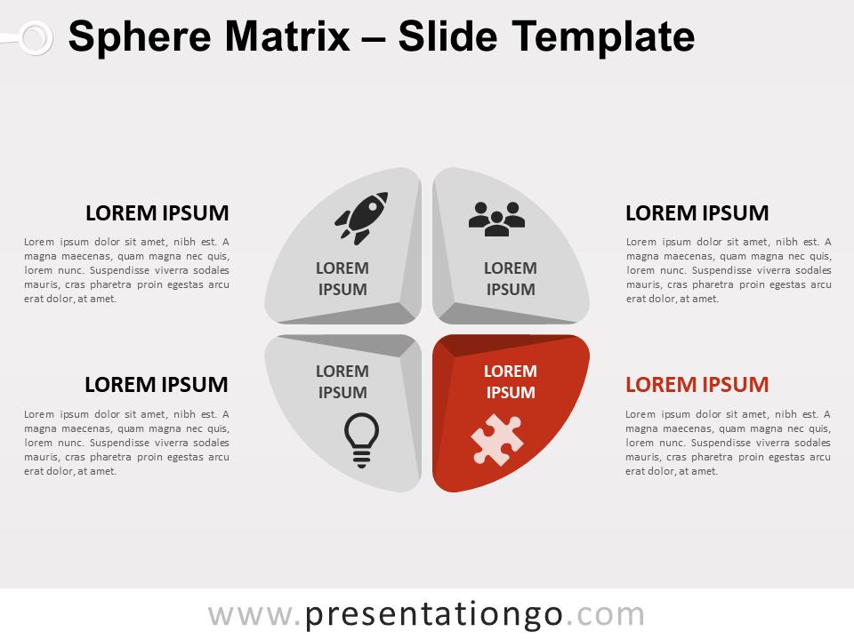 Free Sphere Matrix for PowerPoint - Focus 1