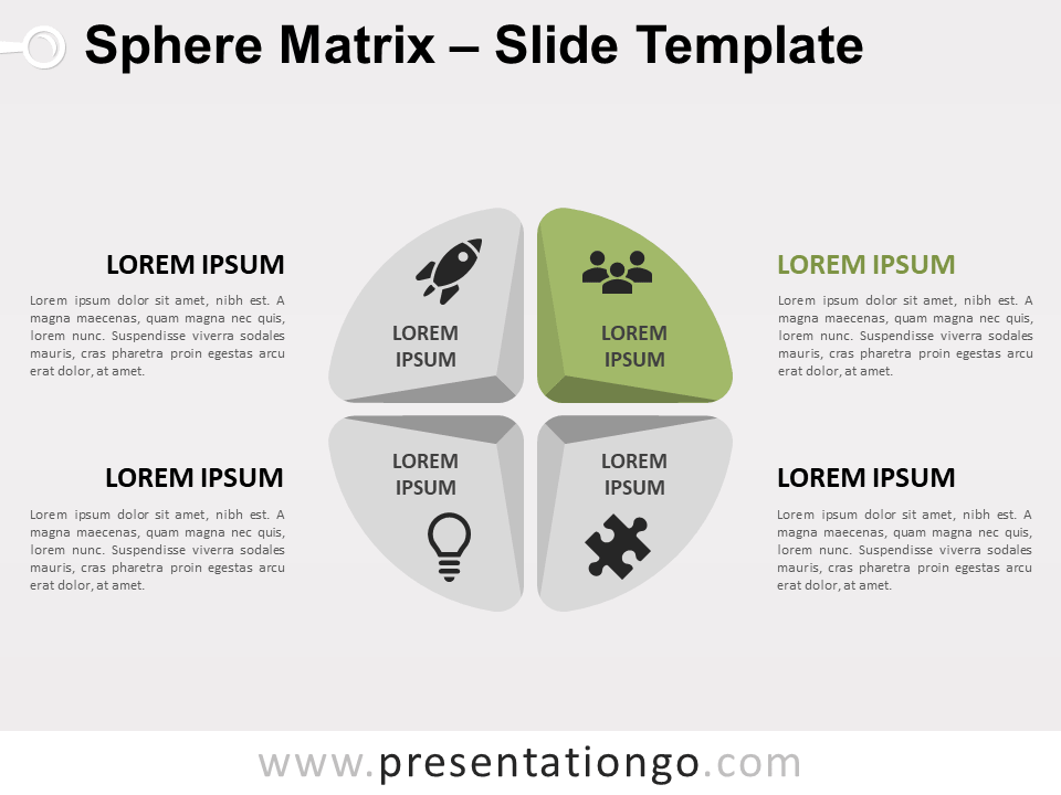 Free Sphere Matrix for PowerPoint - Focus 2
