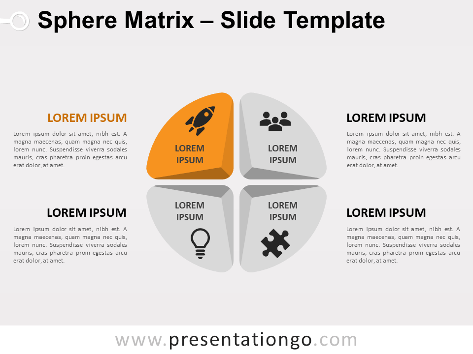 Free Sphere Matrix for PowerPoint - Focus 3