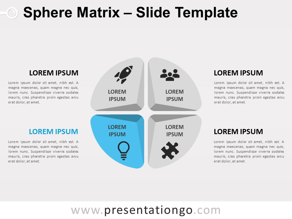 Free Sphere Matrix for PowerPoint - Focus 4