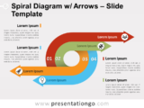 Free Spiral Diagram with Arrows PowerPoint Template
