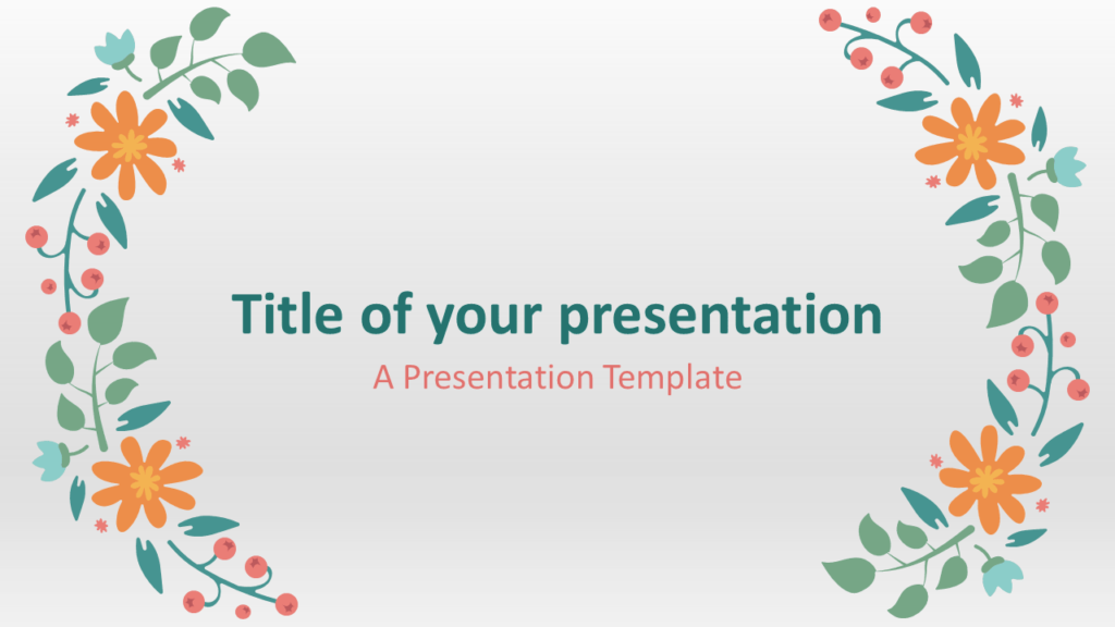 Free Spring Template for PowerPoint and Google Slides