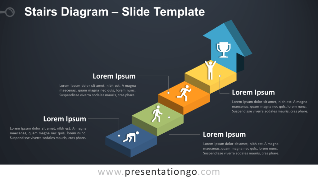 Stairs PowerPoint - Free Template Slide