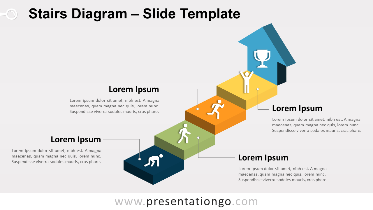 Free Stairs PowerPoint Templatee