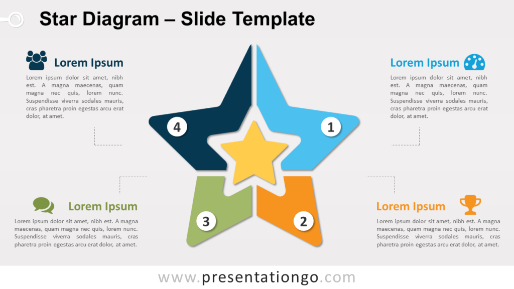 Free Star Diagram for PowerPoint and Google Slides